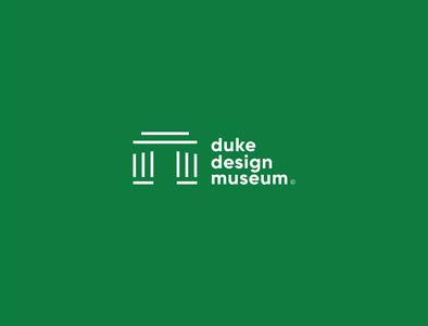 Duke Design Museum identity vector brand minimal idenity museum branding design logo design logo