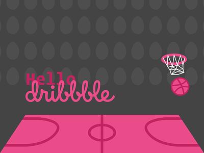 Hello Dribbble! dribbble ball vector illustrator