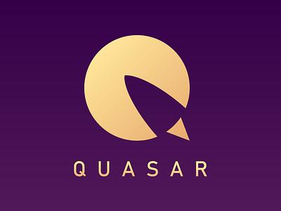 Quasar icon logo vector illustrator moon rocket first dailylogochallenge