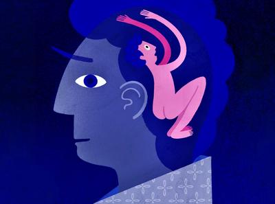 Trapped blue pattern texture procreate art procreate procreateapp illustration