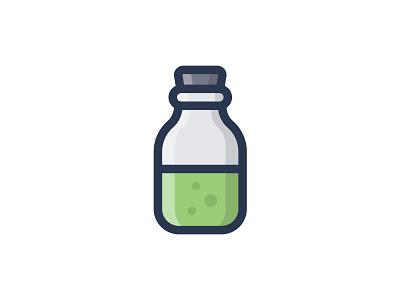 Bottle drink mixture elixir fluid glass bottle