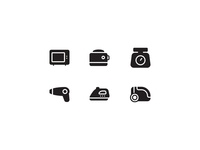 Household Appliances Glyphs