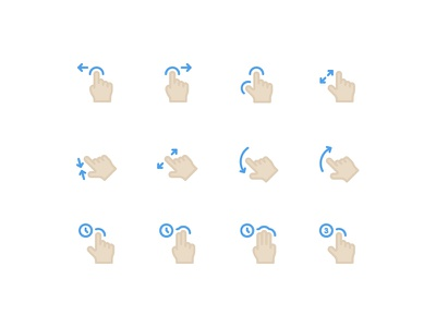 Gestures gesture hand drag finger swipe pinch click thumb