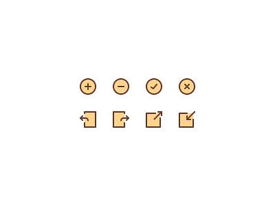 Basic Web Icons box check arrow minus plus icons web basic