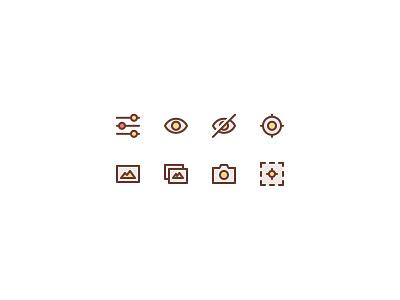 Basic Web Icons photo camera image aim eye equalizer icons web basic