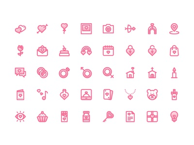 Love Icon Pack elixir ring heart icons romance love