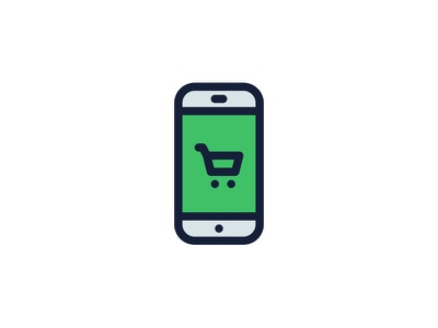 Mobile Shopping Icon online phone order shop shopping mobile