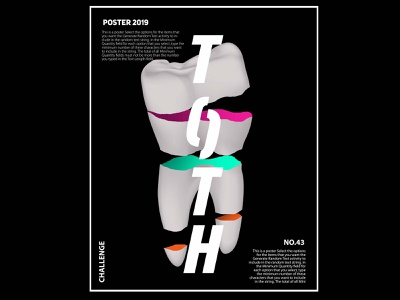 Tooth poster design poster art poster design poster digital illustration typography graphic design