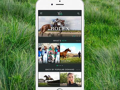 Equine Video Streaming App ios app video