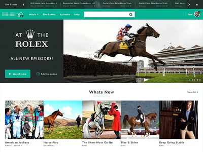 Equine Video Streaming Site