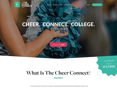 The Cheer Connect Website cheerleading website design