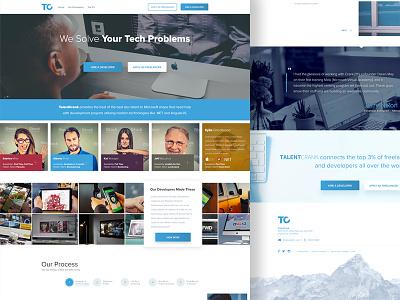TalentCrank Website Design clean website design