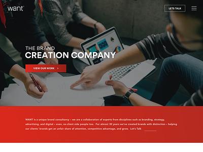 Want Branding website