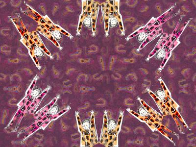 Purple Leopard print pencil art gestural textiles traditional illustration embroidery fashion illustration collage illustration digital illustration