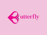 Butterfly logo- Branding- minimalist