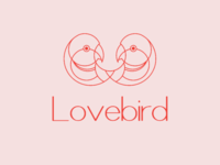 Lovebird logo, Branding, Identity, minimalist logo