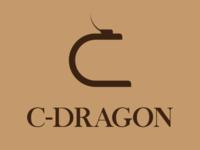 C logo, Dragon logo, identity, minimalist