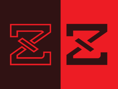 ZX letter logo, minimalist, monogram