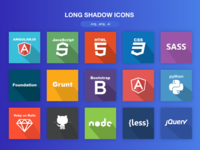 FREE long shadow icons