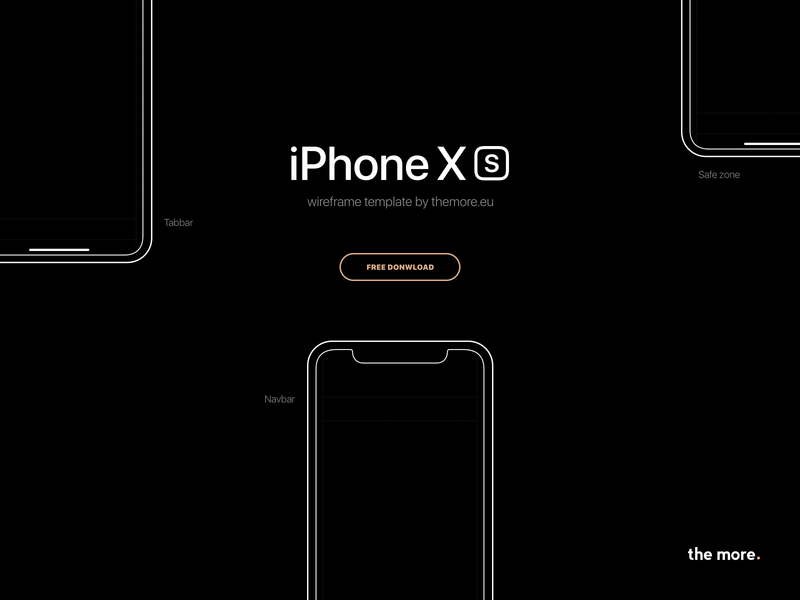 Free iPhone Xs wireframe template ux free wireframe print printable template iphone xs sketch paper sketch wireframe template