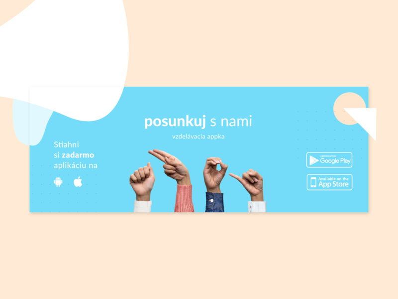 FB cover hands sign language mobile app fb banner fb post