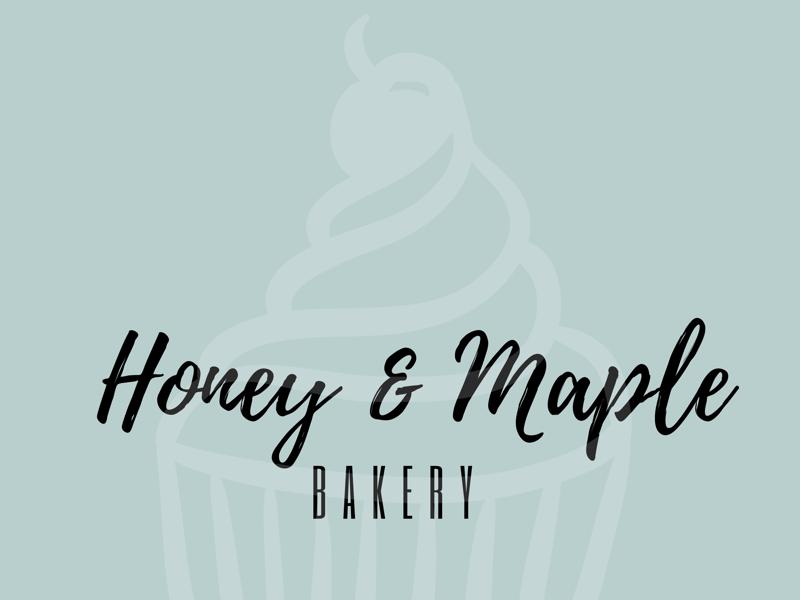 Honey & Maple Bakery typography minimal designer illustration logo branding design
