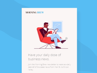 DailyUI 001 - Morning Brew Sign up