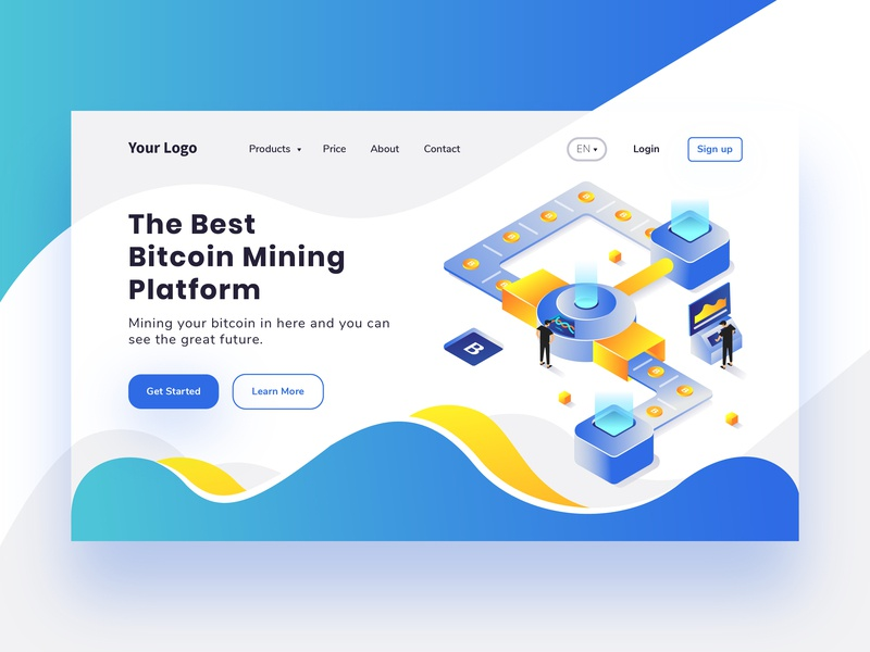 The Best Bitcoin Mining Platform by IKSAN HAFIDHO on Dribbble