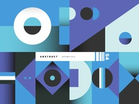 Blue Corcoal Abstract Geometric