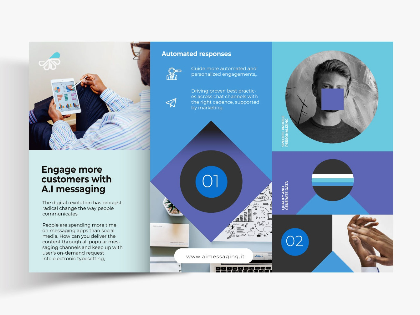 AI Messaging Layout by Rezza Alam on Dribbble