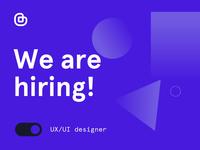 We're hiring 🚀 — UX/UI and Web designers