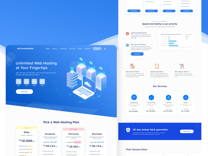 Landing Page - Concept Redesign flat design minimalist homepage design hosting landingpage homepage branding ui