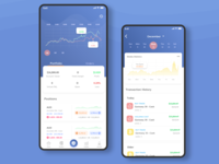 Trading App Concept transaction binomo traditional minimal illustrator typography portfolio concept history payment forex trading design flat ux branding ui