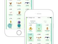 Multiple selection concept for Pokemon GO