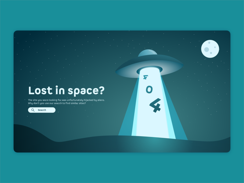 Daily UI #08 - 404-Page userinterface 404page vector colorful uxdesign search uxui ux aliens flat illustration sketch daily008 404 illustration
