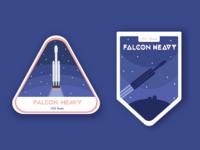 Falcon Heavy badges