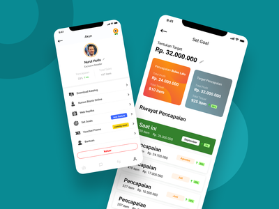 Detail Account and Set Goal - Ecommerce App figma adobe xd uidesign ui uxdesign uiux design figmadesign