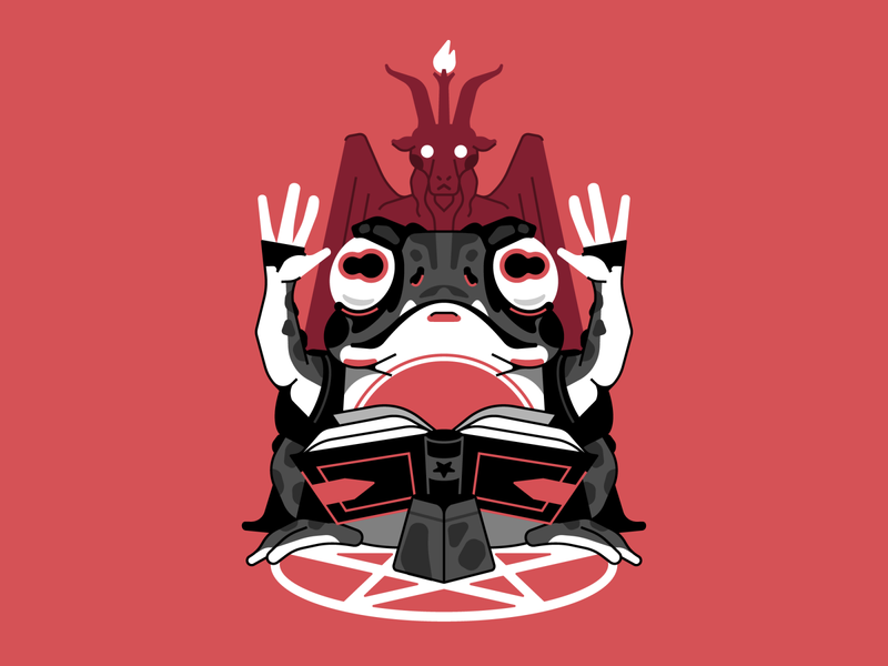 Praise Satan lucifer satan hail toad character illustration stolz
