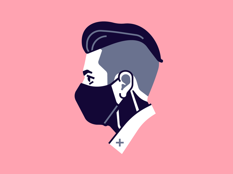 Self Portrait haircut tattoo self portrait portrait character vector simple flat illustration stolz
