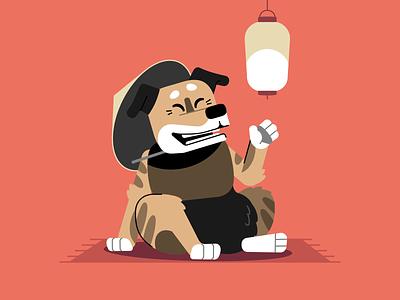 Supersobaka / Tigrunya art concept supersobaka japan dog vector flat character stolz illustration