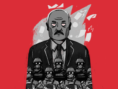 Freedom Belarus! dictator belarus character illustration stolz