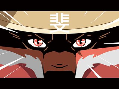 Konnichi wa! dog japan behance supersobaka simple design vector character flat illustration stolz