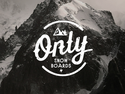 ONLY Snowboards (WIP) stolz logo branding mark snowboard vintage only wip mountain lettering