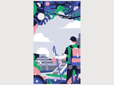 Adventure color palette maya traveler travel adventure vector design character illustration stolz