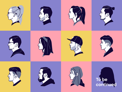Beresnev Games Team: Part 2 line stolz illustraion flat character simple vector beresnev games portrait