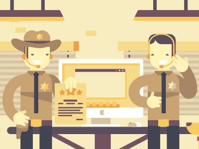 Sheriff / Wargaming stolz flat simple illustration sheriff police character animation