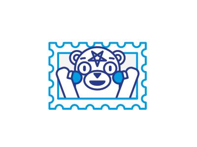 For the Glory of Satan  stolz illustration line sticker mark kumamon glory satan postage stamp