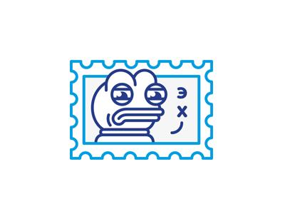 Sad Frog / So sad meme stamp postmail sad frog mark sticker line illustration stolz