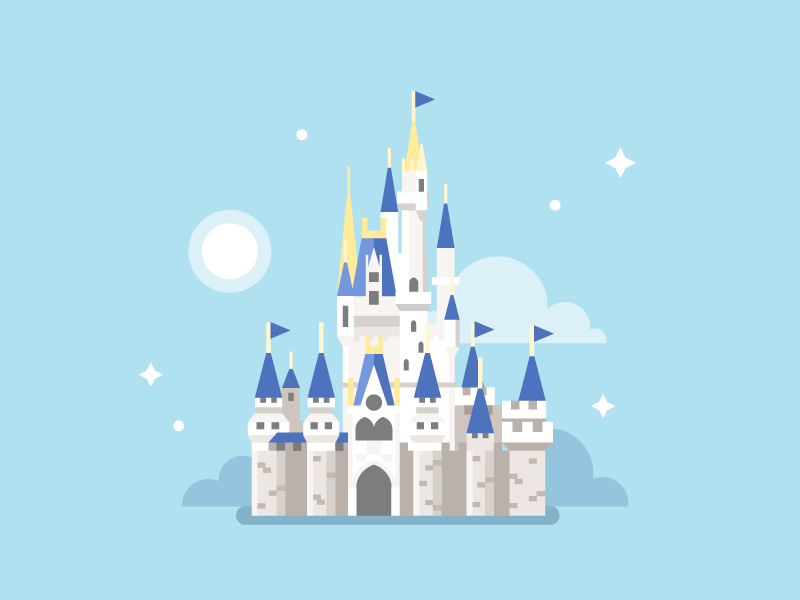 Disney World Cinderella Castle By Dmitry Stolz Dribbble