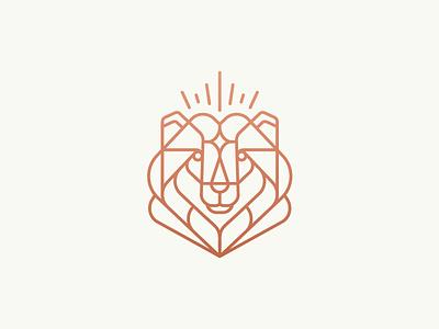 King Bear / North north siberia bear line illustration mark logo stolz